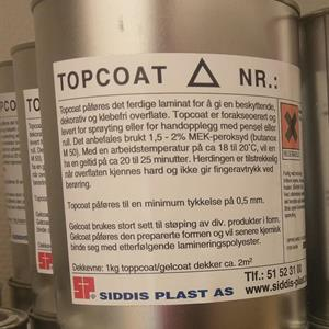Topcoat 40174 RAL 8024 Bavariabrun 1kg