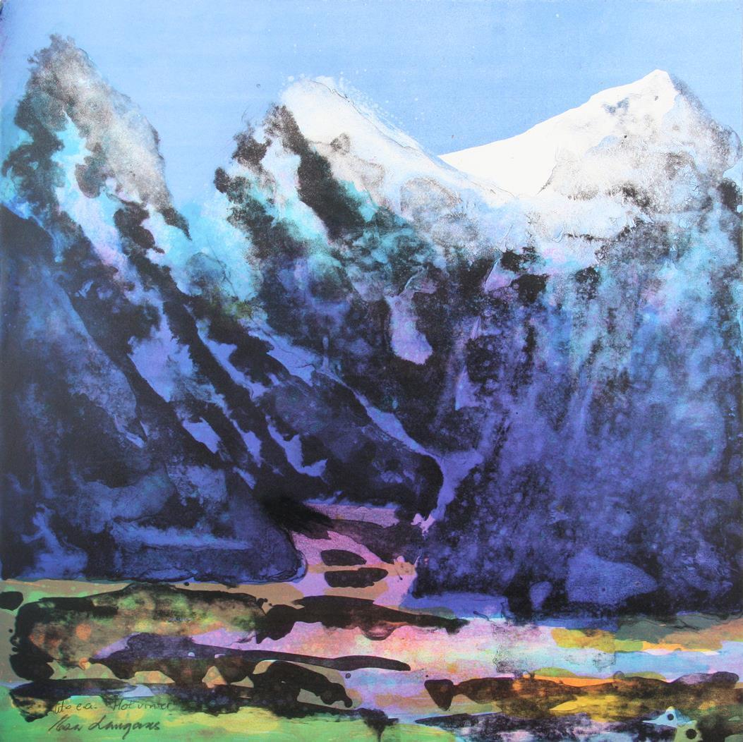 """""""Mot vinter"""", litografi 61 x 61 cm."""