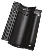 Pottelberg 401 møne, sort glasert