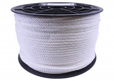 Palmikoitu polyesteriköysi 6MM (lippunaru) (200m/rll 4,8kg/rll)