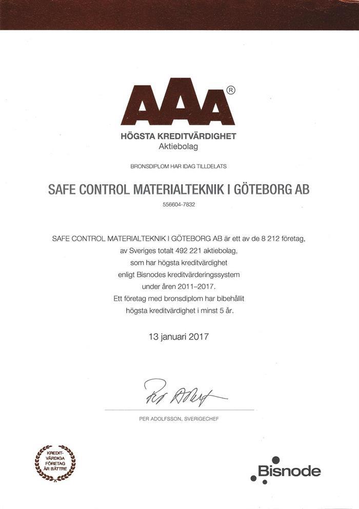 AAA Högsta kreditvärdighet - brons