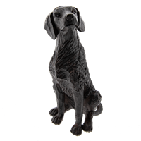Statyett hund sittande