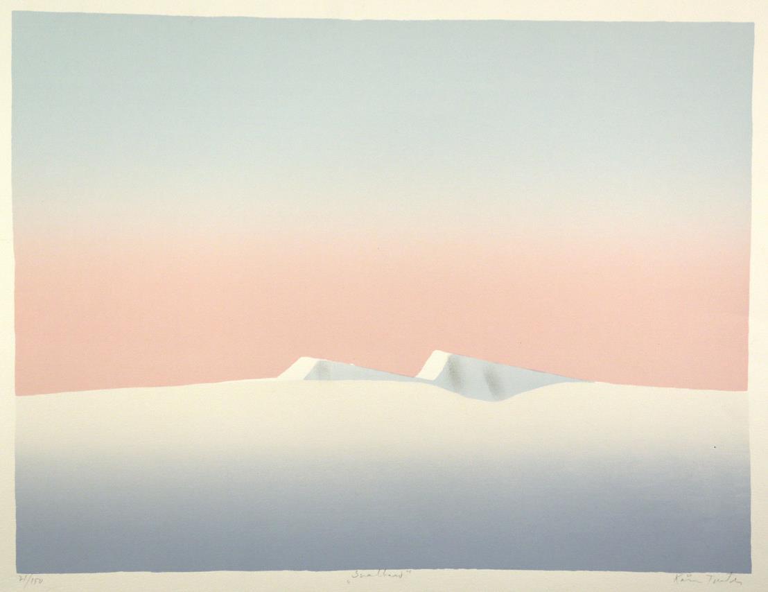 """Svalbard I"", håndkolorert silketrykk, 49,5 x 65 cm."