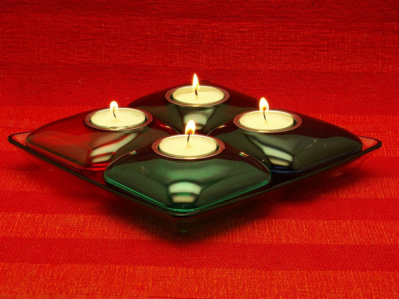 Ljusbricka 4 färger