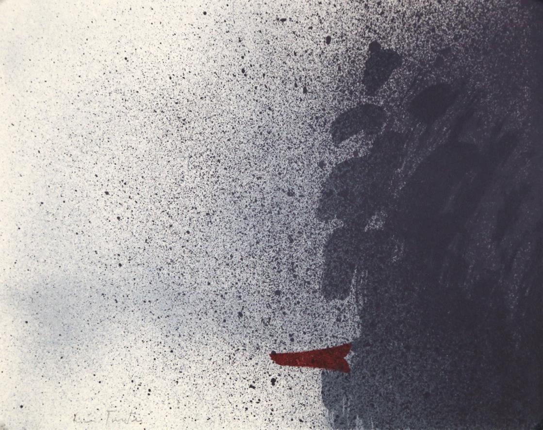 """""""Åskant"""", litografi, 23,5 x 29,5 cm., fra mappen Flak av lyset"""