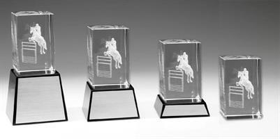 3D Glas Hästhoppning