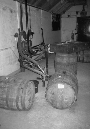 Whiskyfat på Laphroaig