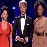 Eurovision finals - Dress designed and made for the hostess Haddy N'jie