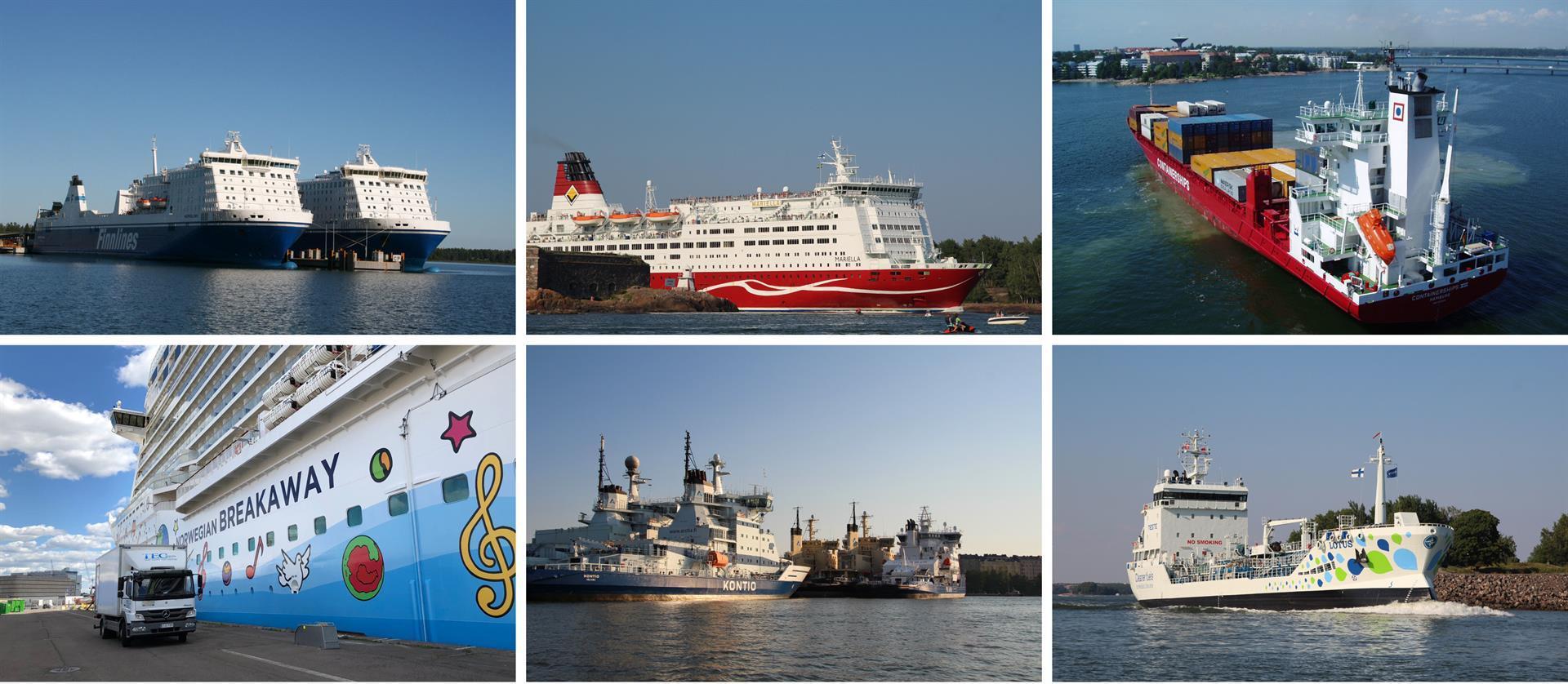 Finnlines, Viking Line M/S Mariella, Containerships, Norwegian Breakaway, Kontio, Lotus