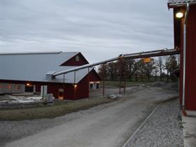 Fodertransport med transportband B8060, platsbyggt, GEA Mullerup, Sörbnäs, Kumla