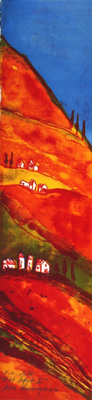 """""""Het høst I"""", litografi 15 x 61 cm."""