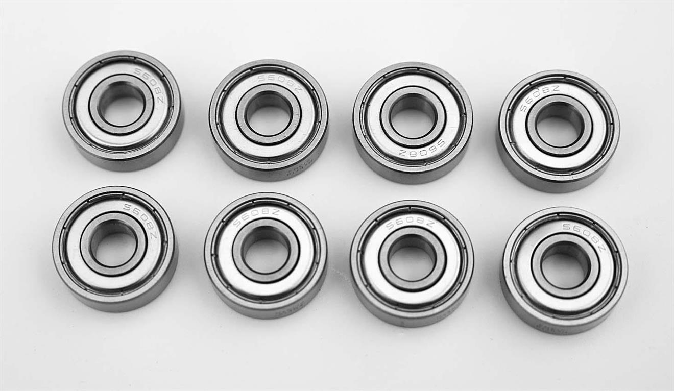 8 st keramiska hybridlager HY608 2Z AF2