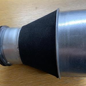 Kon med cellgummitätning. 100-63 mm