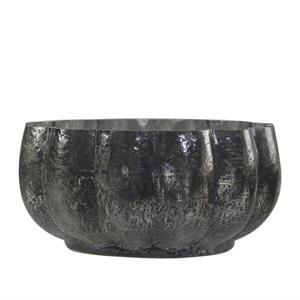 Glassbolle i fattigmanssølv 9x18 cm
