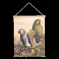 Väggplansch papegoja