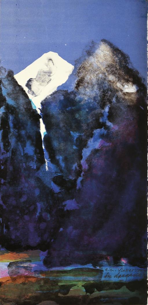 """""""Vinterlys"""" 61 x 30 cm."""
