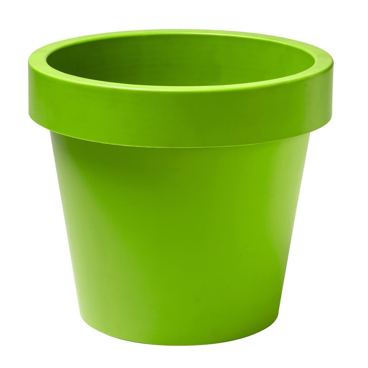 Plain plastkruka 34cm - limegrön