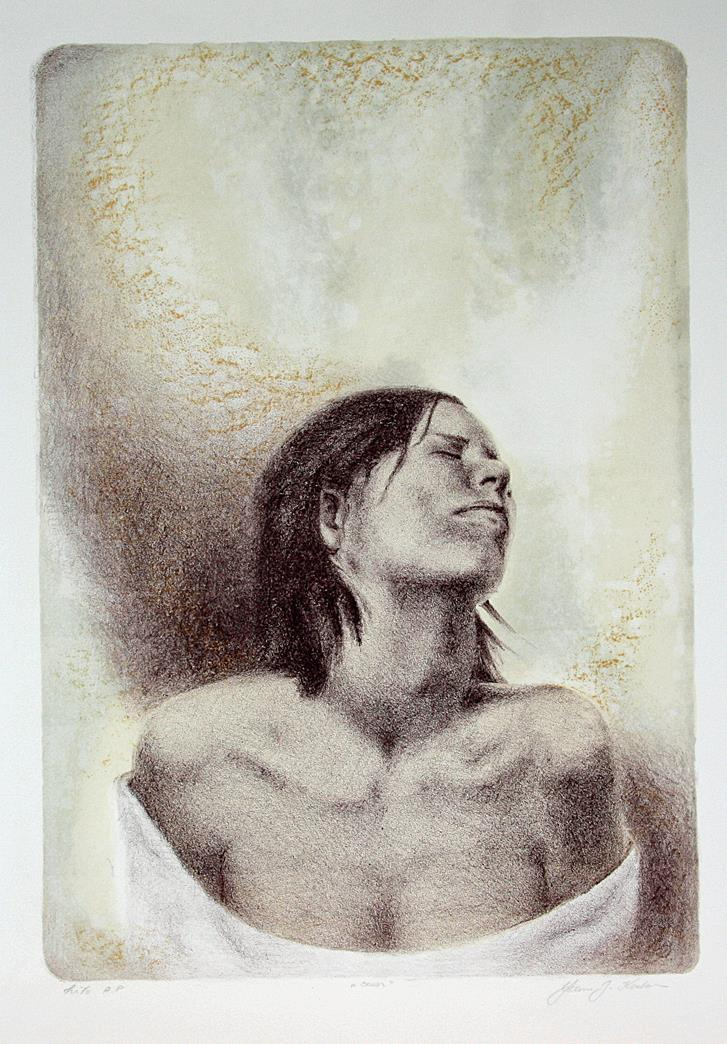 """Savn"", litografi, 50 x 311 cm."