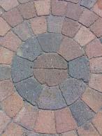Sirkel rødmix/brunmix 6 cm