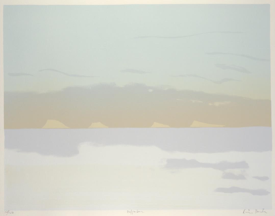 """Isfjorden"", litografi,43,5 x 56,5 cm."