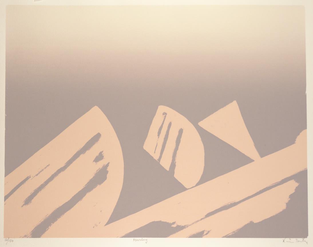 """""""Morning"""", litografi, 43,5 x 56,5 cm."""