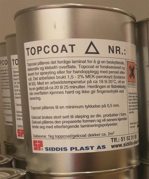 Topcoat 80369 (RAL 7043) Uttern grå