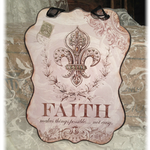 """Metallskilt """"Faith"""""""