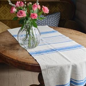 AGNES bordløper i lin blå