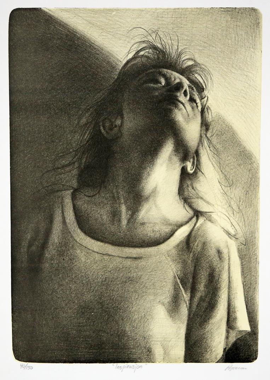 Inspiration litografi 42 x 30 cm.