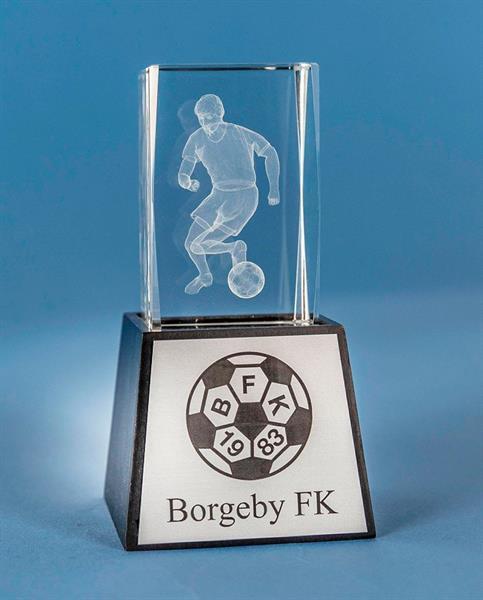 3D Glas Fotboll Herr