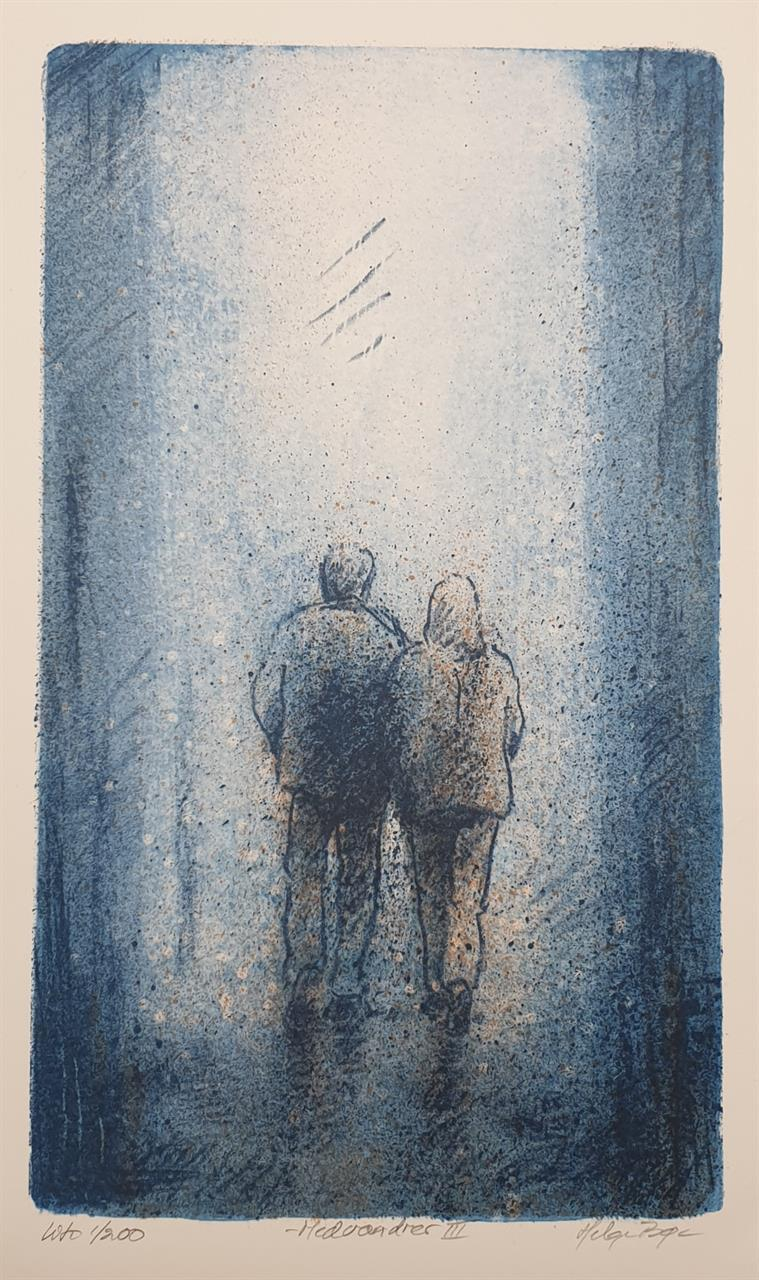 """ Medvandrer III "" 27 x 16 cm."