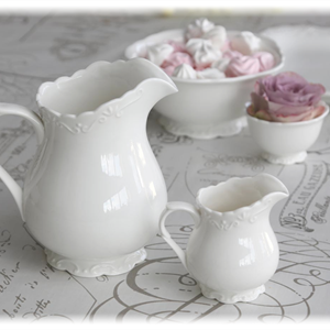 Provence kanne 1 liter porselen H18cm