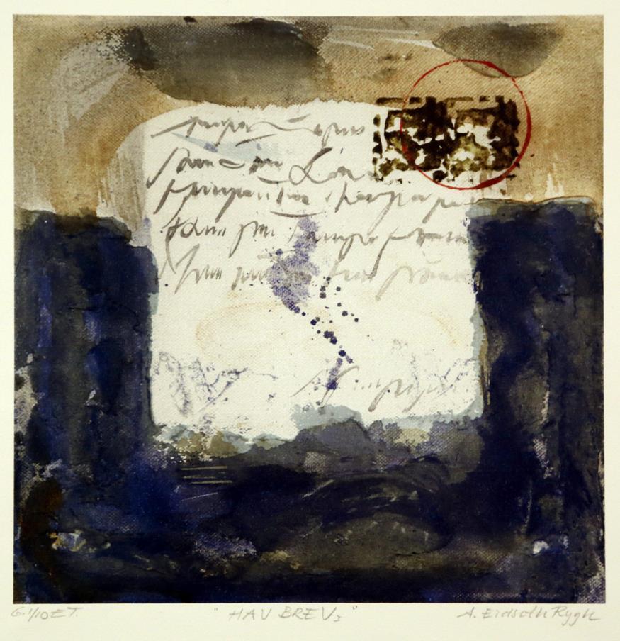 """""""Havbrev III"""", litografi"""