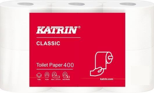 Toalettpapper Big Roll Katrin Classic. 2-lag vit. 42 x 48m