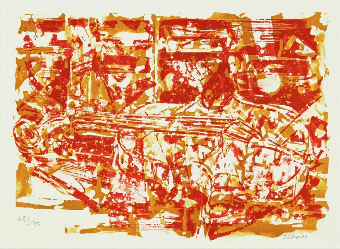 """""""Fiolinen"""", litografi 83/265, 30 x 42 cm."""