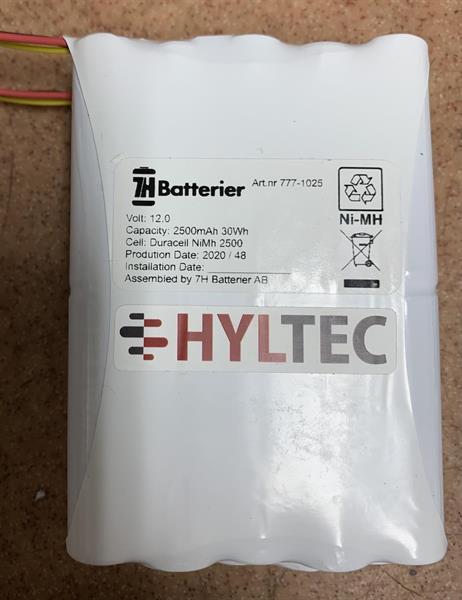 Batteri, NiMH 12V, 2,5 Ah