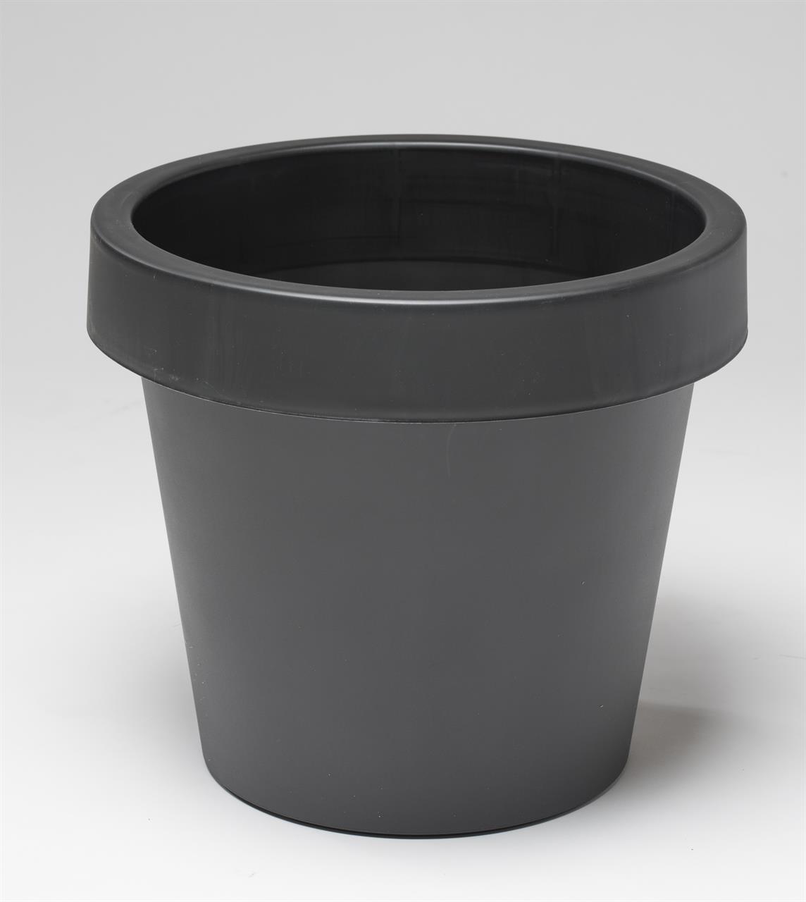 Plain plastkruka 25cm - svart