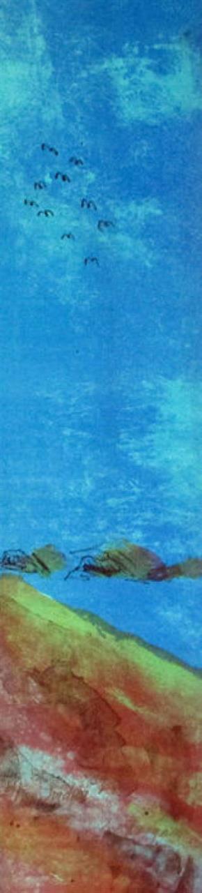 """Jordnær"" litografi 61 x 14 cm."