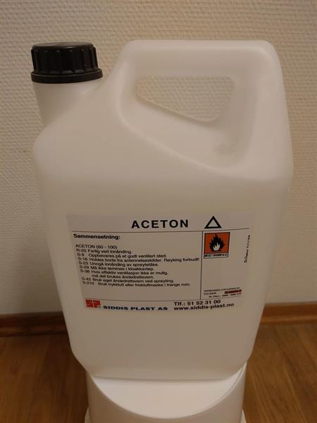 Aceton 5 liter Kanne