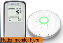 Digitale instrumenter for radonmåling hjemme