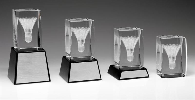 3D Glas Badminton