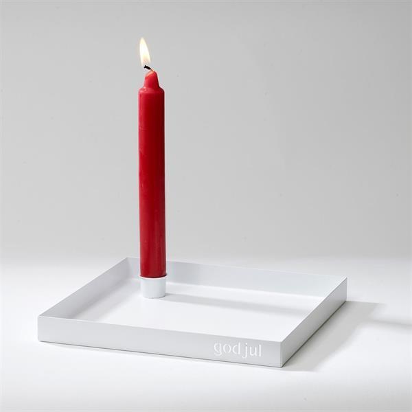 Ljusfat God jul - vit