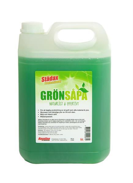 Städax Grönsåpa, 5 liter