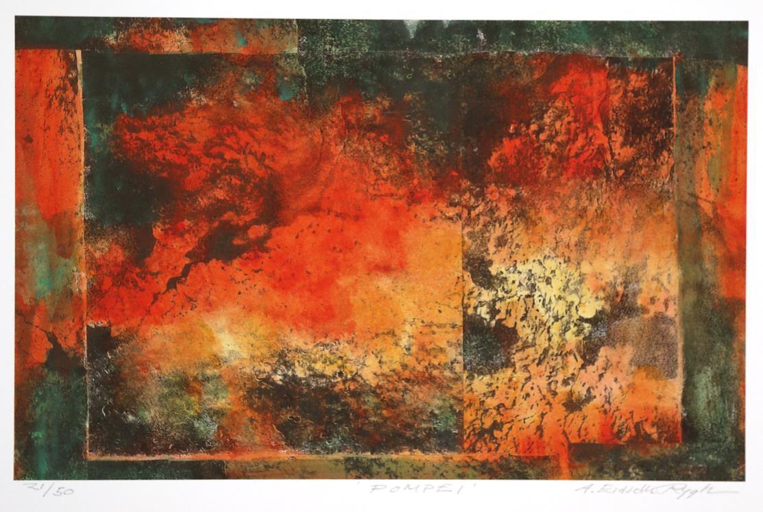 """""""Pompei"""", litografi"""