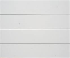 GTSL slett, leddport stål, hvit 250x213 cm