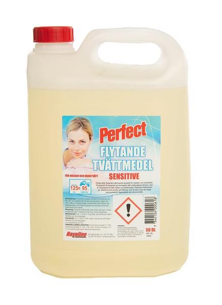 Perfect Flytande Tvättmedel Sensitive, 5 liter