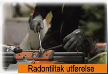 Vår avd. Radontiltak utfører tiltak mot radon