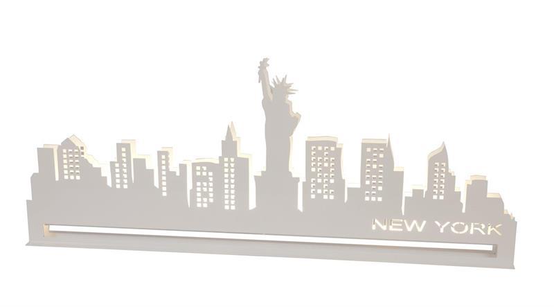 Siluett New York 50cm - vit