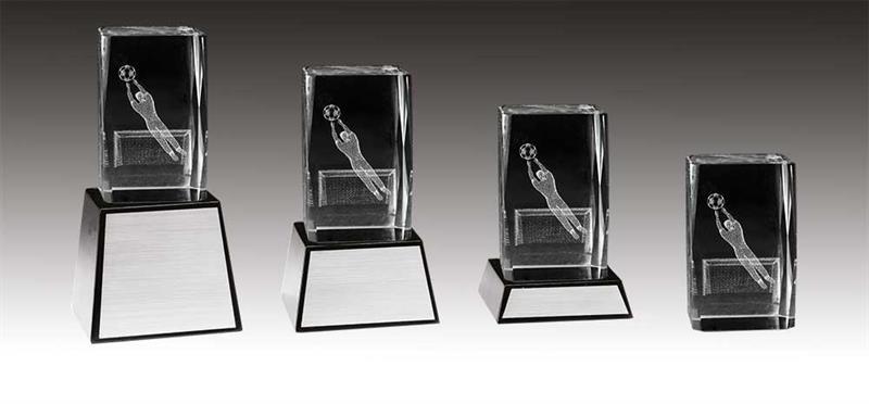3D Glas Fotboll Målvakt