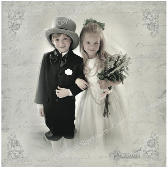 Dobbelt kort - Brudepar